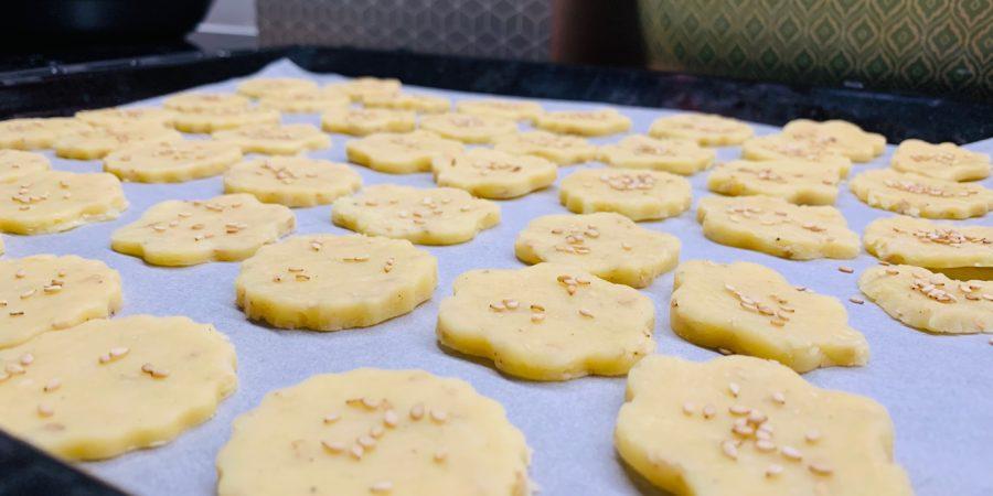 recette biscuit comté sésame